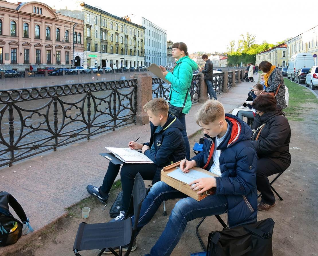 ДШИ №13, Ижевск. Пленэр в Санкт-Петербурге.